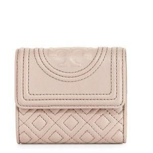 Tory Burch Fleming Mini Flap Wallet-Bedrock NEW!